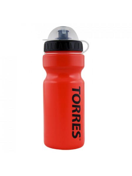 SS 1066 Бутылка для воды  TORRES ,  550 мл, крышка с колп., мягк. пласт., красная, черная крышка