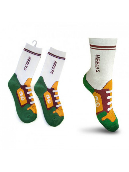 Носки Socks Heelys Green Orange/Зеленый Оранжевый 4107 (18)