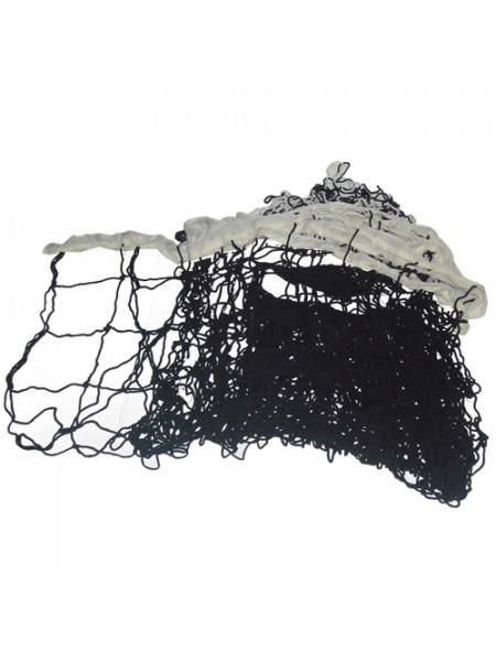 G092 Сетка волейбольная без троса СВ-2, 950*100см черная с белым , с пропиткой, d нити - 2,5мм