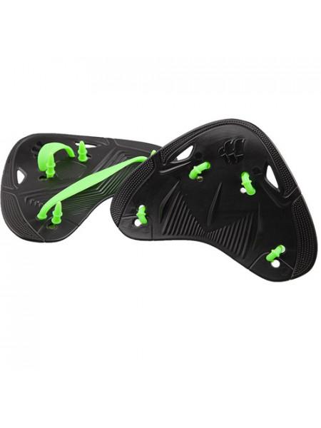 M0746 04 0 01W Лопатки на пальцы FINGER PRO, one size, Black/Green