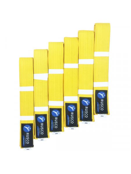 Пояс 2.4 м RUSCO SPORT желтый