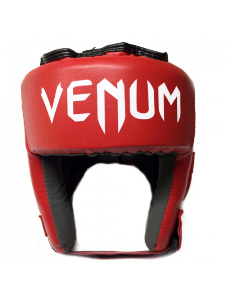 Шлем боксерский Venum Nylex с ушами красный