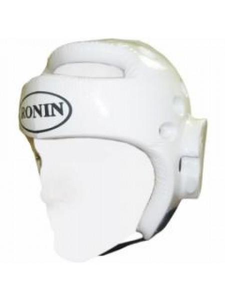 F081B Шлем Ronin белый таэквандо литой, класс Мастер