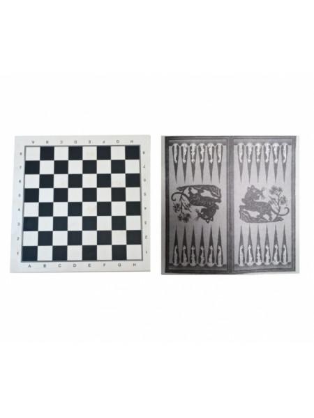 ШН-22+ Доска для нард, шахмат, шашек, картонная р-р 290 - 145 мм