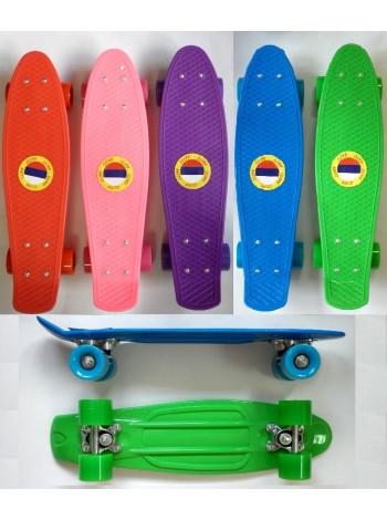 Пластиковый скейтборд М350-1 круглая ось