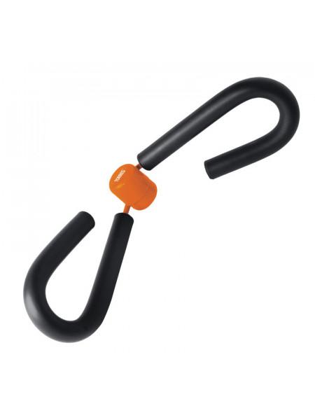 AL1009 Эспандер TORRES Tigh master, пластиковая защита пружины, мягкие ручки, серо-оранжевый